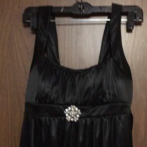 Black silky dress